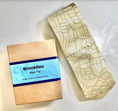 Brookline Map Necktie