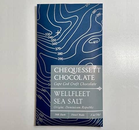 Sea Salt Dark Chocolate Bar by Chequessett