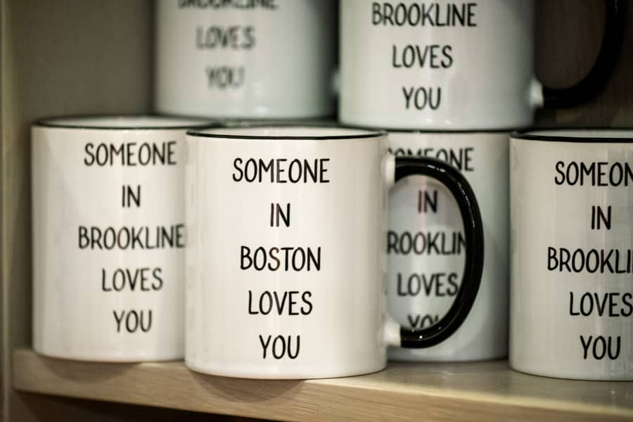 Sleek Ceramic Mugs <br/>sharing love from Brookline