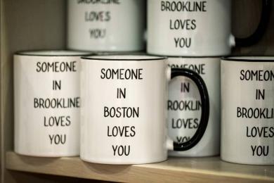 Sleek Ceramic Mugs <br/>sharing love from Brookline